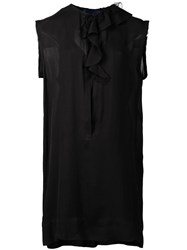 Sharon Wauchob Ruffled Collar Dress Black