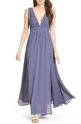 Lulus Women's Plunging V Neck Chiffon Gown