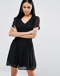 Pussycat London Skater Dress Black