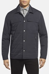 Kenneth Cole Quilted Shirt Jacket Blue