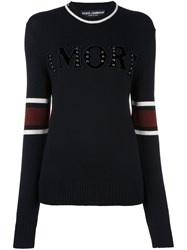 Dolce And Gabbana Amore Patch Jumper Black