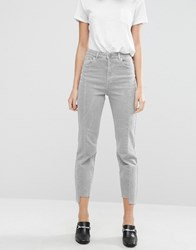 Asos Deconstructed Pencil Straight Leg Jeans In Husk Wash Husk Pink