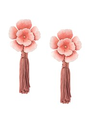 Jennifer Behr Floral Drop Earrings Pink