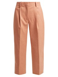 Acne Studios Tapered Wool Blend Trousers Light Pink