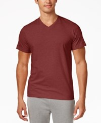Alfani Men's V Neck Undershirts 4 Pack Only At Macy's Sunset Red Heather