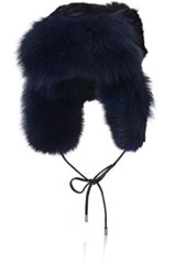 Eugenia Kim Women's Owen Fur Trapper Hat Navy