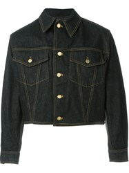 Jean Paul Gaultier Vintage Lace Up Back Denim Jacket Black