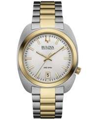 Bulova Men's Accutron Ii Two Tone Stainless Steel Bracelet Watch 40Mm 98B272