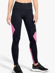 Under Armour Rush Embossed Training Tights Black Lipstick