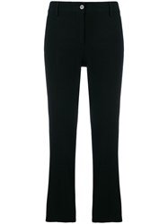 Alberto Biani Classic Cropped Trousers Black