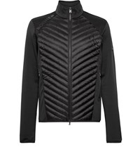 Bogner Maksim Quilted Shell And Stretch Jersey Base Layer Black