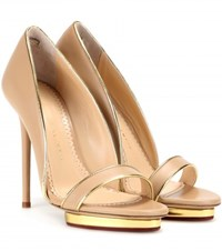 Charlotte Olympia Christine 125 Leather Pumps Beige