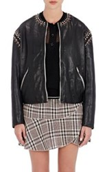 Etoile Isabel Marant Women's Buddy Studded Leather Jacket Black