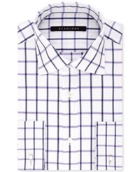 Sean John Men's Big And Tall Classic Fit Purple Check Dress Shirt Dark Purple