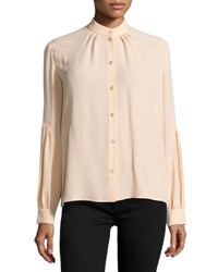 Michael Kors Button Front Dropped Shoulder Blouse Nude