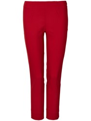 Winser London Cotton Twill Capri Trousers Chilli
