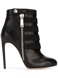 Dsquared2 Strapped Stiletto Heel Boots Black