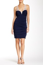 City Triangles Illusion Bodycon Homecoming Dress Blue