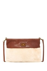 Ugg Nico Genuine Sheepskin Clutch Beige