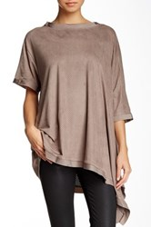 Planet Perforated Flounce Tunic Black