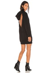 Cotton Citizen The Milan Backless Hoodie Dress Black