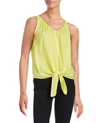 Context Button Down Tank Electric Chartreuse