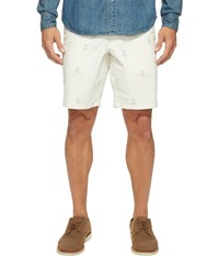Dockers Premium Broken In Chino Straight Fit Shorts Saunders Anchor Men's Shorts White