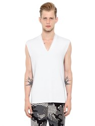 Neil Barrett Sleeveless Viscose V Neck Sweater