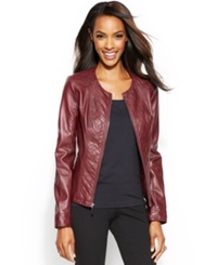 Alfani Quilted Faux Leather Jacket