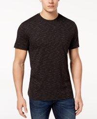 Club Room Men's Textured Stripe T Shirt Created For Macy's Black