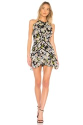 Marissa Webb Andrea Silk Print Dress Black