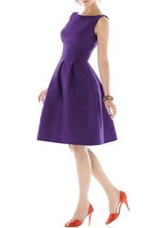 Women's Alfred Sung Dupioni Fit And Flare Dress Majestic