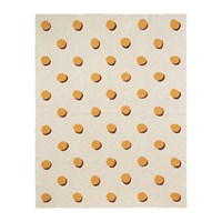 Ferm Living Double Dot Cotton Blanket Off White