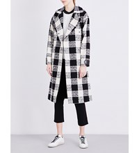 Belstaff Lowther Checked Cotton Blend Coat Off White Black