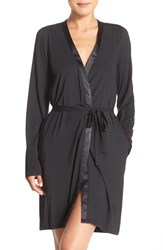 Calvin Klein Women's 'Essentials' Short Robe Black