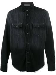Di Liborio Distressed Velvet Shirt Black
