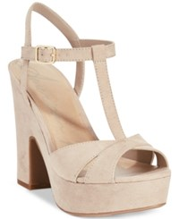 American Rag Jamie T Strap Platform Dress Sandals Only At Macy's Women's Shoes Natural