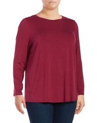 Context Plus Tunic Long Sleeve Top Burgundy