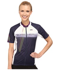 Louis Garneau Equipe Gt Series Jersey Eclipse White Women's Workout Navy