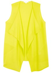 Duffy Yellow Waterfall Front Cashmere Gilet