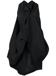 Rick Owens Sleeveless Ruffled Blouse Black