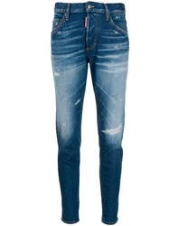Dsquared2 Distressed Mid Rise Jeans 60
