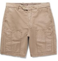 Brunello Cucinelli Linen And Cotton Blend Cargo Shorts Beige