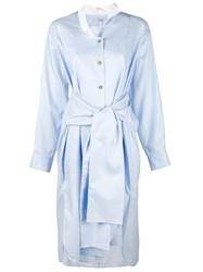 Loewe Tied Waist Shirt Dress Blue