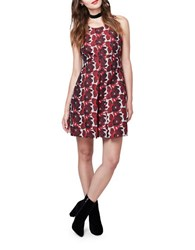 Rachel Roy Floral Jacquard Dress Ruby Red