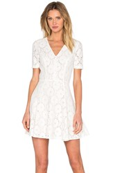 1. State Lace Flare Dress White