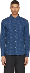 Marc By Marc Jacobs Blue Chambray Sunburst Shirt