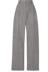 Alexander Wang Stretch Wool And Mohair Blend Tapered Pants Gray