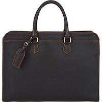 Boldrini Selleria Men's Double Handle Briefcase Black Blue Black Blue