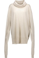 Maison Martin Margiela Mm6 Oversized Wool And Cashmere Blend Sweater Beige